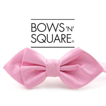 Pastel Pink Pointed Bow Tie - Wedding Turquoise Bow Tie - Designer Bow Tie - Princess Wedding Bow Tie - Bachelor Party