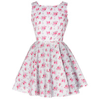 Vintage Inspired Rose Print Dress   Style Icon`s Closet