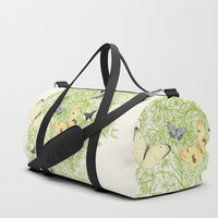 Butterflies in the bee loud glade Duffle Bag by anipani