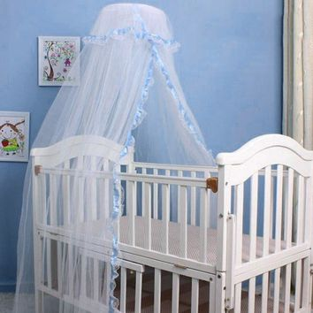 Baby Crib Netting Round Lace Princess Baby Mosquito Net Portable Baby Bed Tent Canopy Infant Mosquito Net for Hammock Room Decor