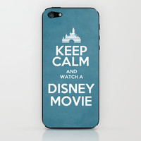 Keep Calm and Watch a Disney Movie iPhone & iPod Skin by Bluebird Design | Society6
