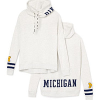 University Of Michigan Cowl-Neck Pullover - PINK - Victoria's Secret