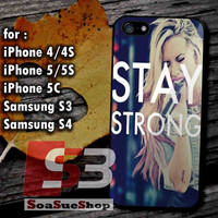 Stay Strong Demi Lovato - Hard Plastic and Rubber Case for iPhone 4/4S, 5/5S, 5C And Samsung Galaxy S3, S4