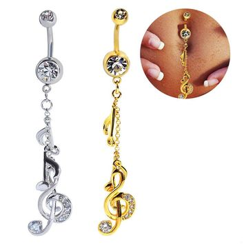 Korean Hot Sale Navel Rings Stainless Steel Accessory Belly Ring [6768793607]