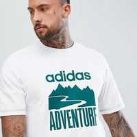 adidas Originals Atric T-Shirt With Adventure Print In White CD6811 at asos.com