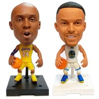 """1pcs basketball star dolls NBA Player Star Kobe Bryant Durant Curry LeBron James 2.5"""" Action Dolls Figurine Toy Best Gift to kid"""