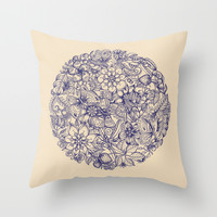 Circle of Friends Throw Pillow by Micklyn