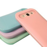 For Samsung Galaxy S III 3 S3 Night Glow Credit Card Hybrid Back Case Cover+Film