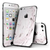 Mixtured Pink and Gray v9 Textured Marble - 4-Piece Skin Kit for the iPhone 7 or 7 Plus