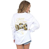Mizzou Classy Saturday Long Sleeve Tee in White by Lauren James