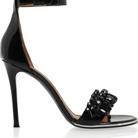Givenchy - Monia patent-leather sandals with crystals