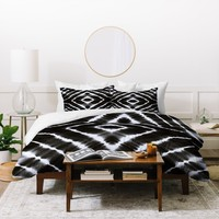 Monika Strigel WAKE UP CALL BLACKWHITE Duvet Cover
