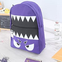 Monster Character backpack/school backpack/Fashionable Cute Backpacks/vintage backpack/ travel package/Computer bag/Book Bag/school bag
