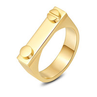 Gold Fashion Shackle 24K Ring