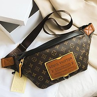 LV Louis Vuitton New Letter Print Sports Waist Bag Messenger Bag Shoulder Bag Shopping Bag