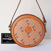 GUCCI Mickey new round cake bag small bag-retro fan-super practical small bag