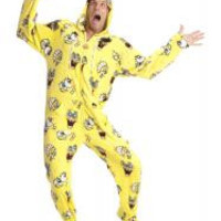 Sponge Bob Square Pants Adult Onesuit Pajamas