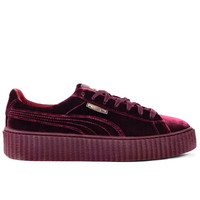 Men's Puma x Fenty Creeper by Rihanna Burgundy Velvet