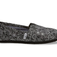 Black and Silver Paisley Women's Classics US