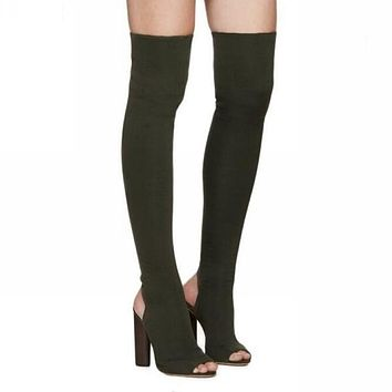 Best Peep Toe Thigh High Boots Products