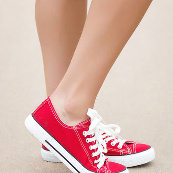 All Star Sneakers-Red