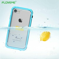 FLOVEME Shockproof Underwater Diving Waterproof Cases Cover For iphone 7 Outdoor Phone Case Cover Water Proof For iPhone7 Plus