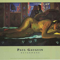 Paul Gauguin Nevermore Art Poster 24x36