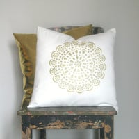 Metallic Gold Pillow Cover Set, Gorgeous home decor metallic gold cushion cover. Pillows & Cushions