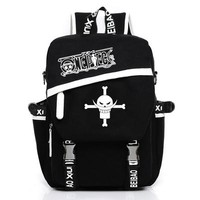 Japanese Anime Bag  One Piece Yellow Hat Luffy Satchel Backpack School Bags Student Gift AT_59_4
