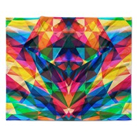 "Danny Ivan ""Day We Met"" Rainbow Geometric Fleece Throw Blanket"