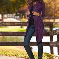 Women's Marled cardigan, cami, jegging, buckle riding boot by VENUS
