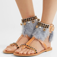 Mabu by Maria BK - Aten embellished leather sandals