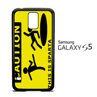 Funny Caution This is Sparta F0030 Samsung Galaxy S5 Case