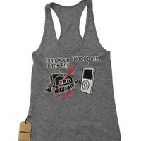 I am Your Father Funny Cassette Tape Racerback Tank Top for Women