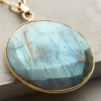 Rounded Labradorite Pendant Necklace by Lulu Grey Motif One Size Necklaces