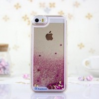 Angelia 2014 Fashion Sand Quicksand Bling Glitter Hard Case Cover for Iphone 5 5s Transparent Funny Case Liquid Cover-pink:Amazon:Cell Phones & Accessories