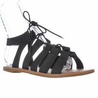 Wanted  Chillie Lace-Up Gladiator Sandals, Black, 8 US