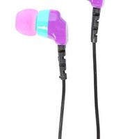 NEFF Ear Buds Daily in Purple, Pink, and Teal