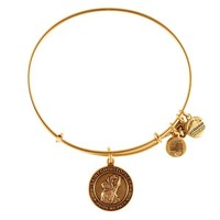 Alex and Ani Saint Christopher Charm Bangle - Russian Gold