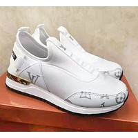 Louis Vuitton LV New Fashion Letter Monogram Print Sports Leisure Shoes White