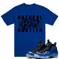 BORN HUSTLER- Nike Foamposite ROYAL XX