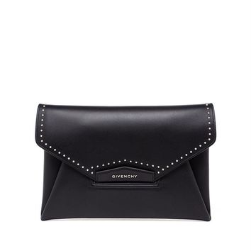 Studded Leather Envelope Clutch - GIVENCHY