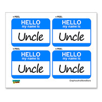 Uncle Hello My Name Is - Sheet of 4 Stickers