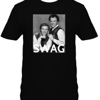 Step Brother's SWAG Funny Adult Black T-Shirt - UNISEX SIZES