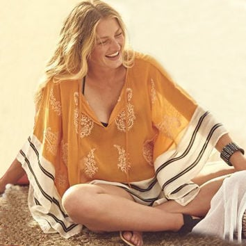 Beach Swimsuit Cover Up  Boho Dress Women Kaftan Beach Tunic  Beachwear