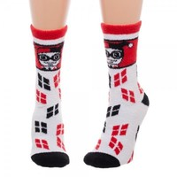 Harley Quinn Juniors Fuzzy Socks