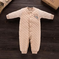 Baby Rompers Winter  Baby Girl Organic Cotton Clothing Jumpsuits Autumn Clothing Set Newborn Baby Clothes Cotton Baby Rompers