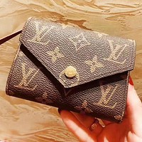 Hipgirls Louis Vuitton LV Fashion New Monogram Leather Wallet Purse Women