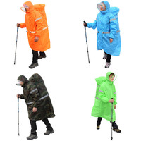 Outdoor Camping Hiking Backpack Rain Cover One Piece Raincoat Poncho M/XL bluefield brand