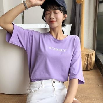 Loose Fit Sorry Tee